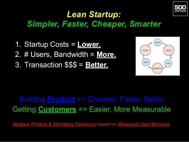 Lean Startup: Simpler, Faster, Cheaper,