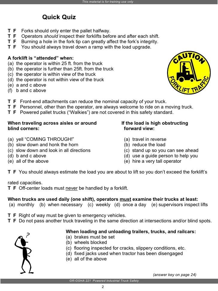 Osha Forklift Certification