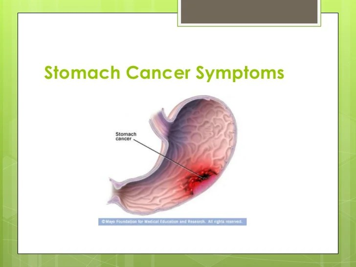 Image Result For Symptom Of Stomach Cancer