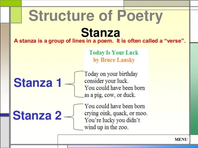 Two Stanza Poems Examples