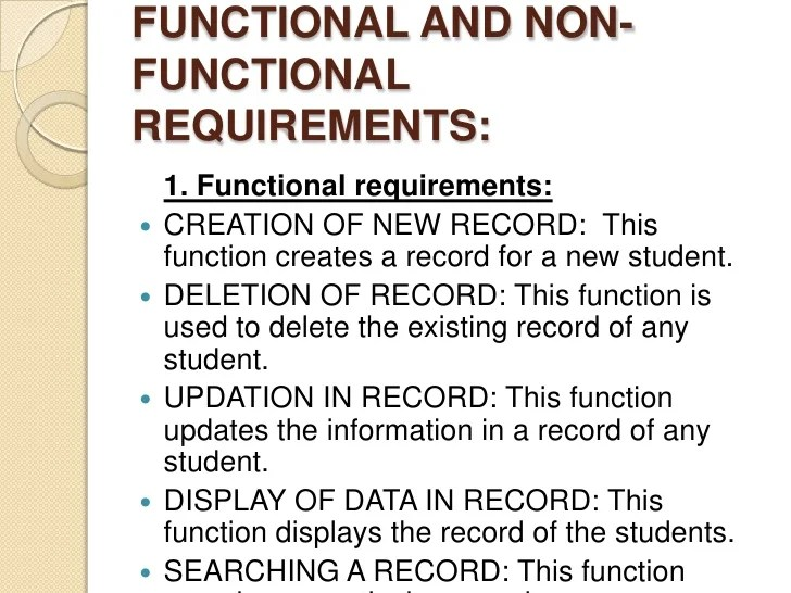 Database Security Requirements