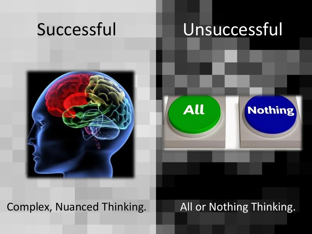 Successful Unsuccessful All Or Nothing