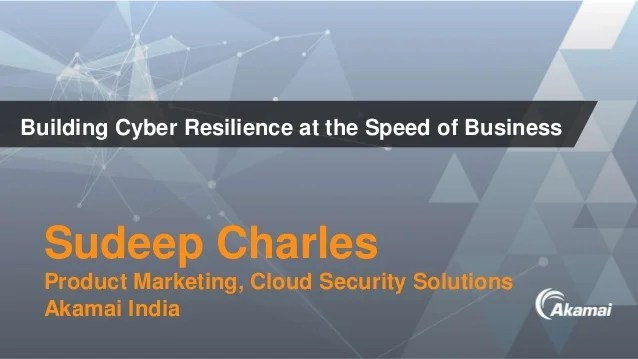 Building Cyber Resilience at the Speed of Business