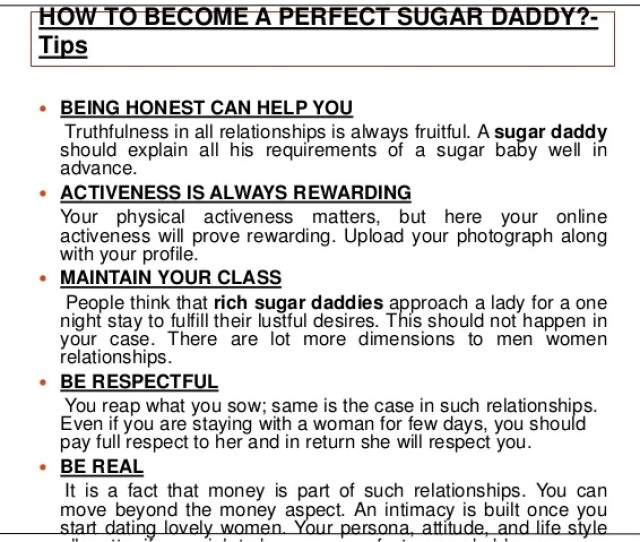 How To Become A Perfect Sugar