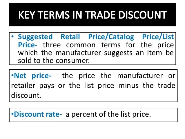 Image result for Trade Discount