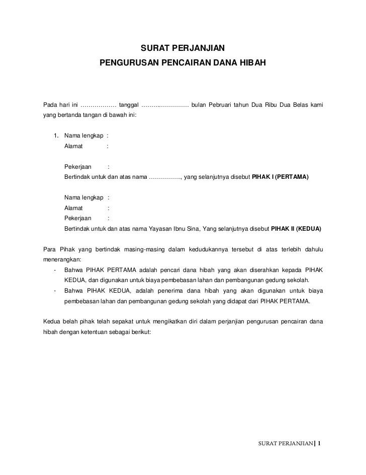 Contoh Surat Pernyataan Hibah Rumah Simak Gambar Berikut