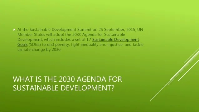 Sustainable Development Goals (SDG) - Conference 2015 with ...