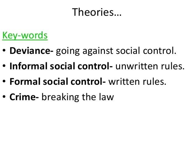 formal and informal social control