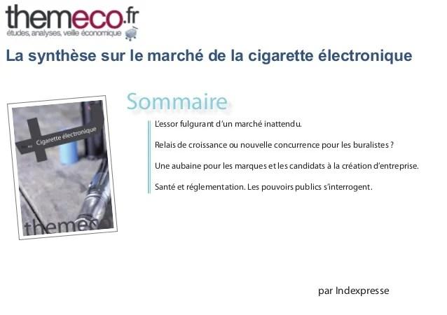 Pour Une Tude De March De La Cigarette Lectronique