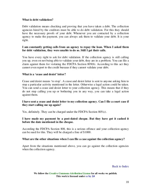 Debt collector letter stop calling visorgede take creditors and collection agents to small claims court letter to debt collector stop calling spiritdancerdesigns Images