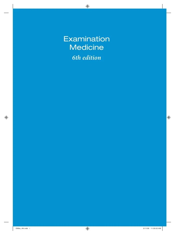 Examination Medicine 6e by Talley & O'Connor