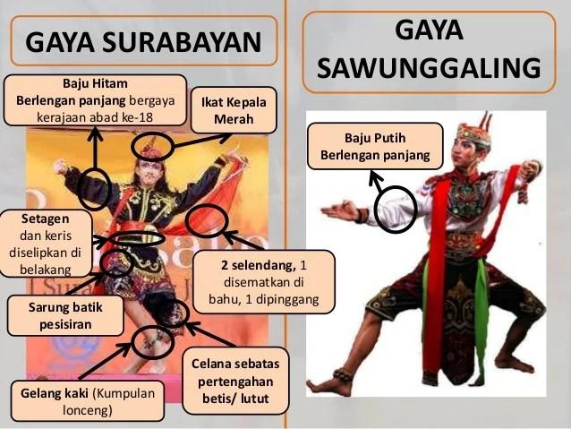 Tari Tradisional Remo/Baju tari Remong yang berasal dari Surabayaan dan Gaya Sawunggaling