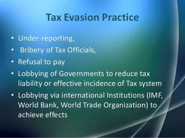 Tax evasion & tax avoidance