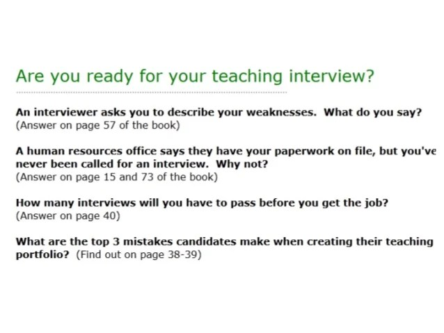 Imagenes De Questions For Teacher Interviews And Answers