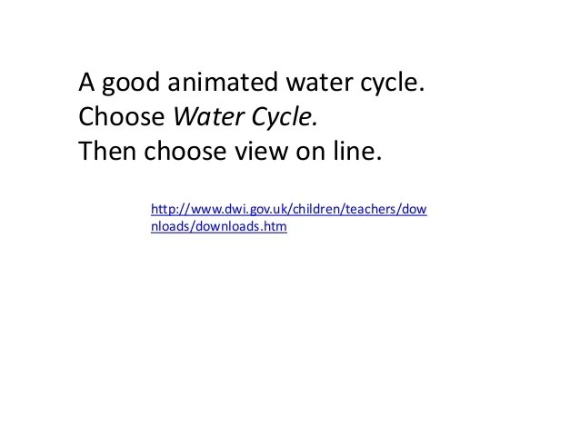 WATER CYCLE (Teach)