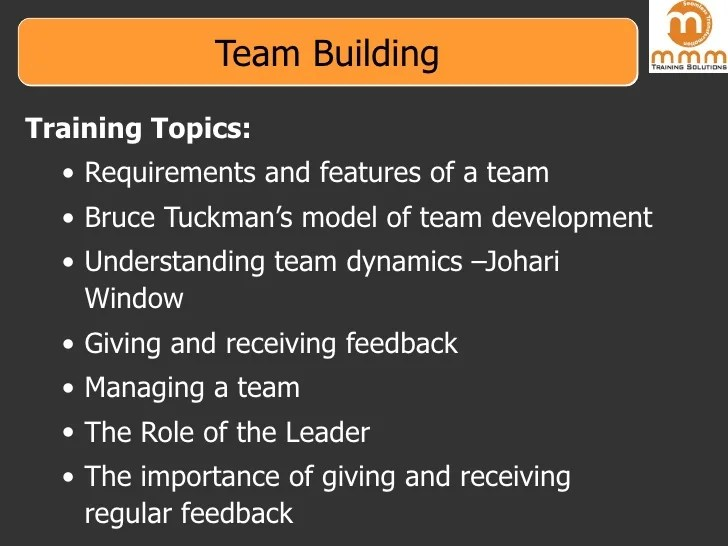 Training Ideas Building Team