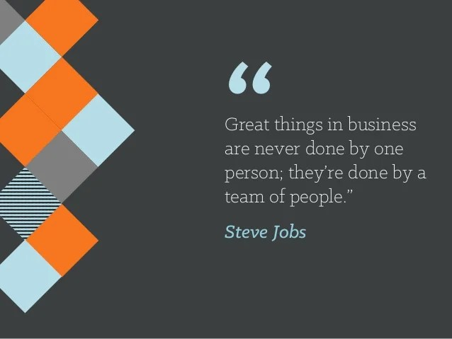 Great Things In Business Are