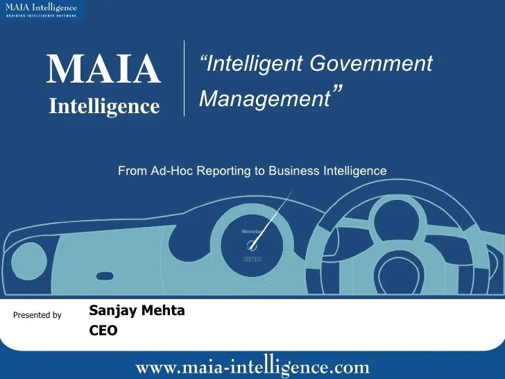 Intelligent Government Management - From Ad-hoc Reporting ...