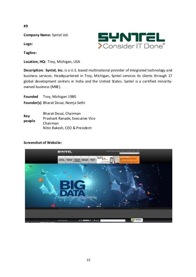 Tech giants & top it companies india manan manish