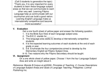 example of semi detailed lesson plan in elementary level