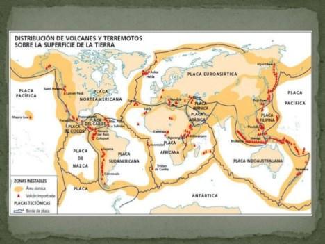 Resultado de imagen para diferentes placas tectonicas en el mundo