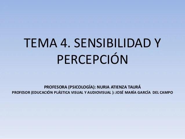 Tema percepción (2015)