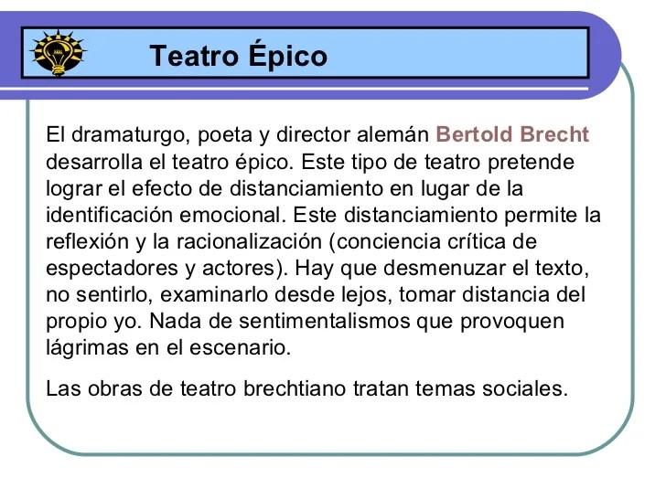 Tendencias del Teatro