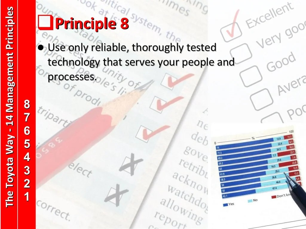 Principle 8 Use Only Reliable