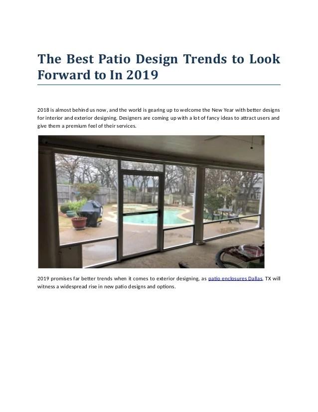 the best patio design trends to look