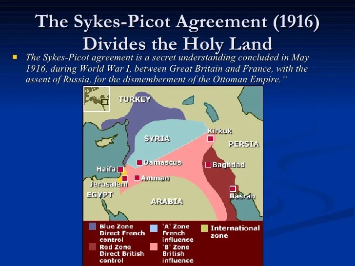 the significance of the husayn mcmahon correspondence sykes picot agreement and balfour declaration  Divide and rule: world war i and the postwar settlement - the arabs: a history - by eugene rogan between the husayn-mcmahon correspondence, the sykes-picot.