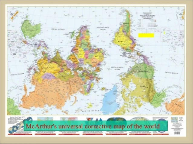 Peters Projection Map Upside Down