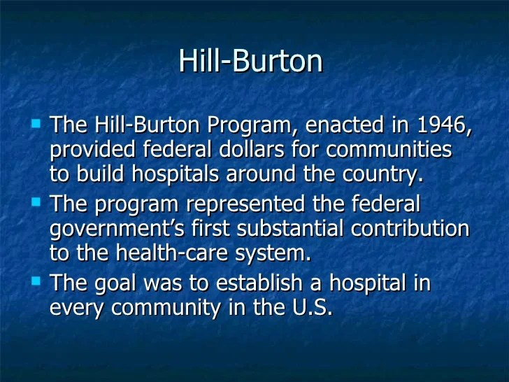 Image result for hill burton act