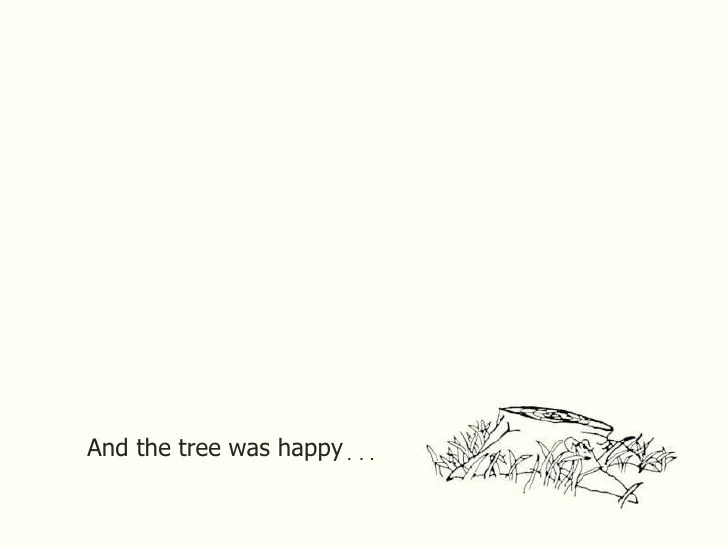 Image result for and the tree was happy