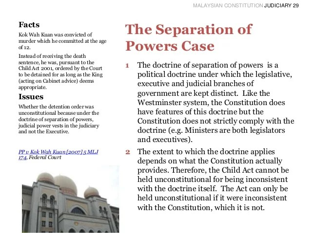 MALAYSIAN CONSTITUTION JUDICIARY 29 Facts