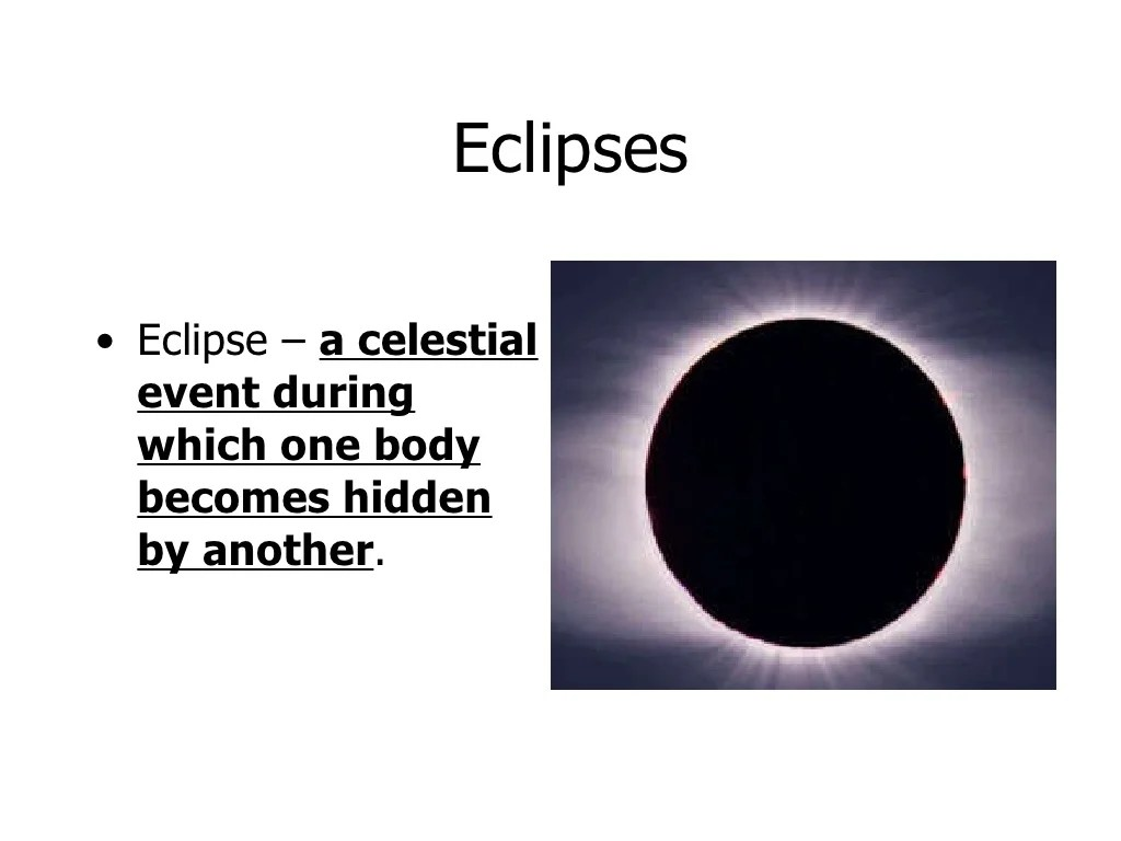 Moon Motions And Eclipses