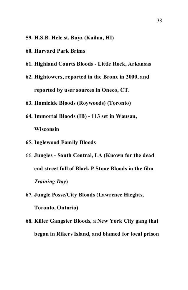 Black Blood Gangs Texas