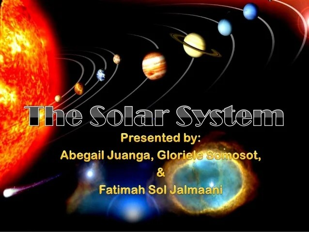 The Solar System by VI - Edison (PASAY CITY WEST HIGH ...
