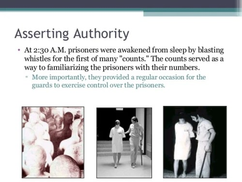 "Asserting Authority • At 2:30 A.M. prisoners were awakened from sleep by blasting whistles for the first of many ""counts.""..."