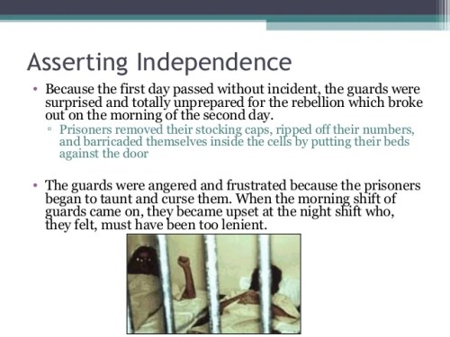 Asserting Independence • Because the first day passed without incident, the guards were surprised and totally unprepared f...