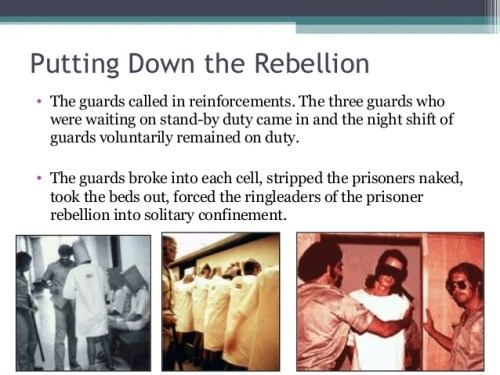 Putting Down the Rebellion • The guards called in reinforcements. The three guards who were waiting on stand-by duty came ...