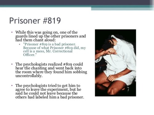 """Prisoner #819 • While this was going on, one of the guards lined up the other prisoners and had them chant aloud: • """"Priso..."""