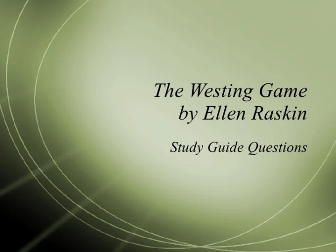 The Westing Game Vocabulary Chapters 17 20 Gameswalls