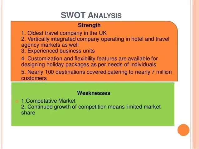 Market Analysis Sample Travel Agency