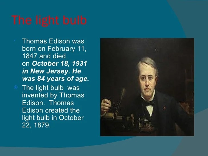 Edison Light Bulb Tries
