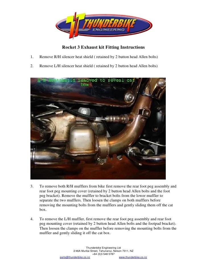 thunderbike triumph rocket 3 exhaust