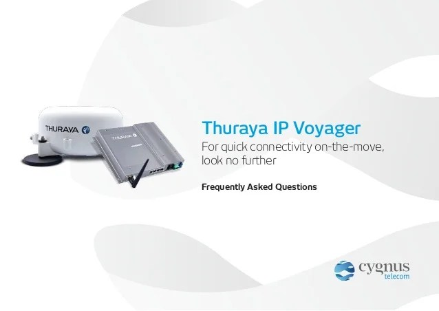 Thuraya IP Voyager - Frequently Asked Questions
