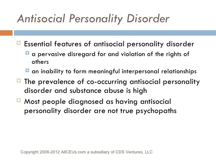 antisocial personality disorder examples
