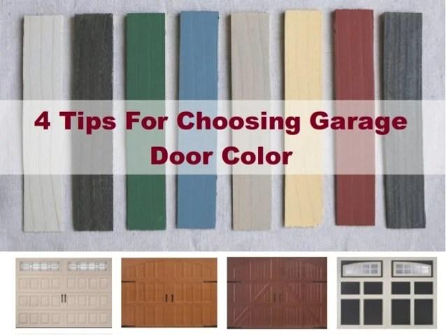 4 Tips For Choosing Garage Door Color on Choosing Garage Door Paint Colors  id=75397
