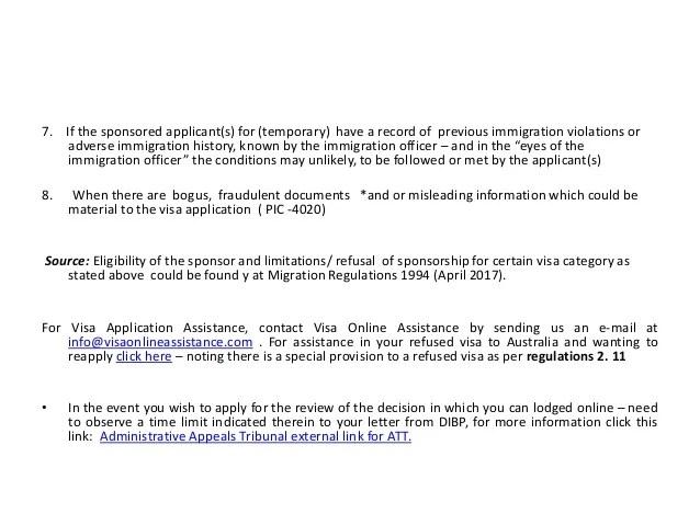 visa sponsor letter