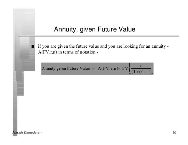 Image Result For Present Value Of Annuitya